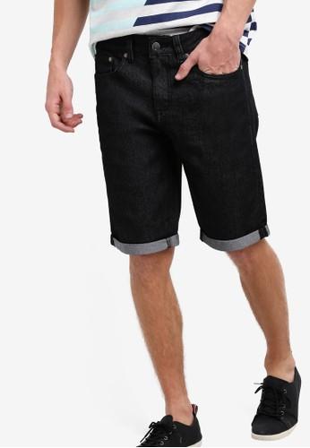 threads by the produce black Denim Bermuda Shorts TH122AA69KACMY_1