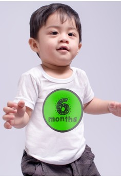 Monthly Baby Milestone - Colorful Patches (6 Months)