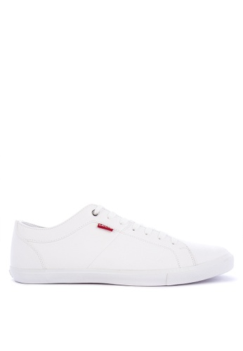 Levi's white WOODS PU Sneakers 92893SH17723D2GS_1