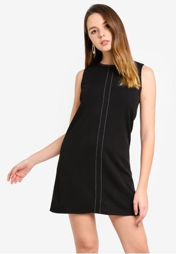 ZALORA black Stitch Detail Dress 62E59AA16DB11CGS_1