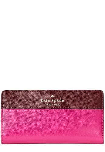Kate Spade pink Kate Spade Staci Colorblock Large Slim Bifold Wallet in Pink Multi 5DF77AC94E5344GS_1