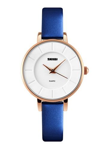 Skmei blue SKMEI 1178 Ladies's Fashion Simple Elegant Quartz Leather Watch (Blue) SK707AC0RXD4MY_1