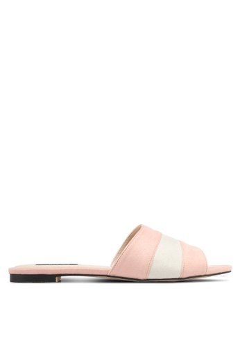 ZALORA pink Dual Toned Sandals C5DD0SHEE0E07FGS_1