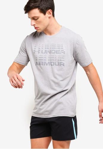 Under Armour grey Wordmark Glitch Short Sleeve Tee 0D637AA704C3AAGS_1
