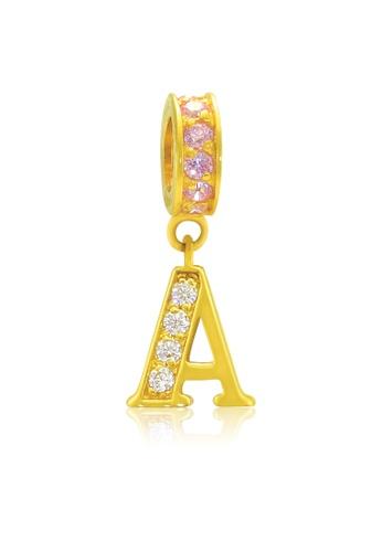 Aurora Italia gold Aurora Italia Alphabet - A 18K Gold Charm/Pendant FAB2CACC6A3B93GS_1