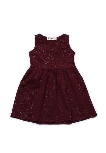 Mini Moley red Glitter Dust Girl's Dress B02DCKA2FA33E0GS_1