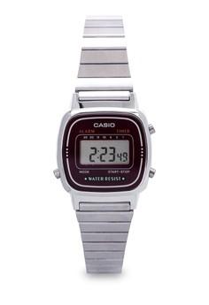 Square Digital Watch LA670WA-4DF