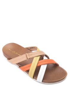 Criss Crossed Strapped Flats