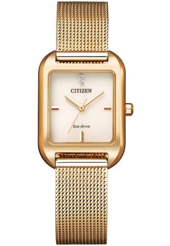 Citizen gold CITIZEN EM0493-85P ECO-DRIVE ELEGANCE ROSE GOLD MESH STRAP WOMEN'S WATCH C3585ACB7BA3E0GS_1