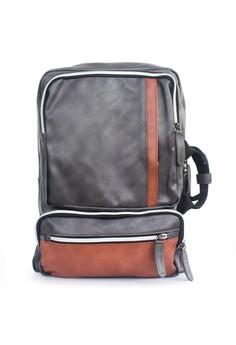 harga VERNYX - Men's Infinity Space Backpack Bag TSJ371 Brown - Tas Ransel Pria Zalora.co.id