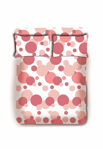 Primeo pink Premium 220TC King Bed Sheet Set, Coral Fitted Sheet, Pillow Case Set of 3 1CD0BHL9357761GS_1