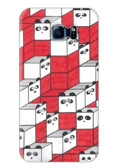 Panda Blocks Matte Hard Case for Samsung Galaxy S6 Edge