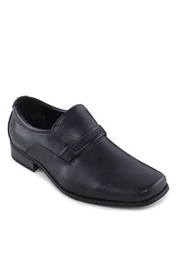 方頭編織帶正裝皮鞋,esprit暢貨中心 鞋, 皮鞋