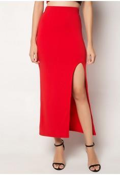 Ellyn High Slit Maxi Skirt