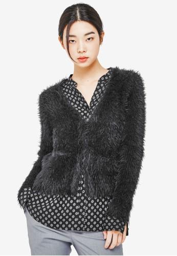 毛絨口袋長袖上衣,esprit招聘 服飾, 外套
