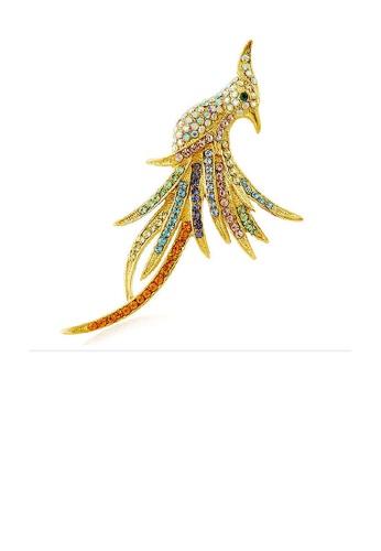 Glamorousky multi Elegant Phoenix Brooch with Multi-color Austrian Element Crystals 23FFBACC7AB7FEGS_1