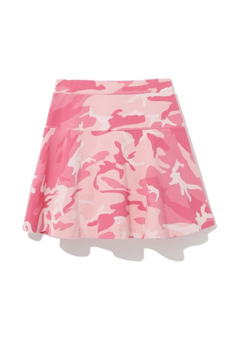 :CHOCOOLATE pink Camo mini skirt F8265AA12FE30EGS_1