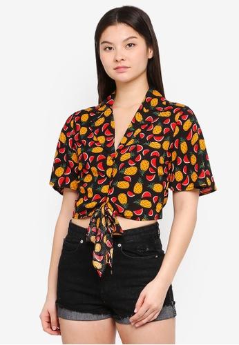 Something Borrowed multi Tropical Resort Shirt 939D2AA472FBB4GS_1