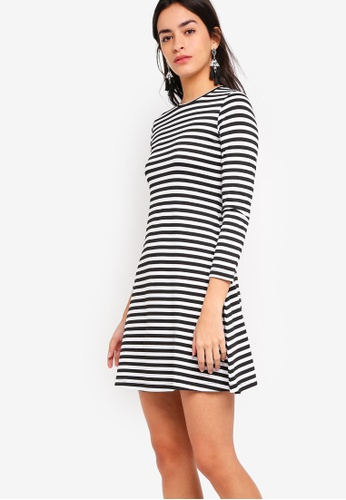 ZALORA BASICS multi Basic Long Sleeves Flare Dress D7959AAACCC42FGS_1