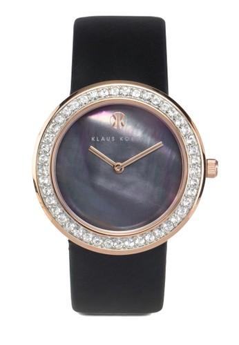 Penny 鑲zalora 心得鑽皮革錶, 錶類, 淑女錶