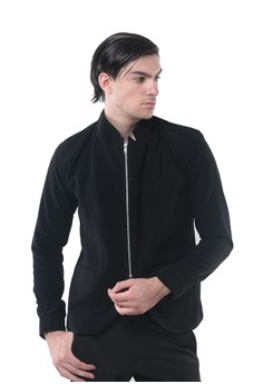 Crows Denim black Crows Denim - Blazer Desain Zipper Style CR199AA01QDIID_1
