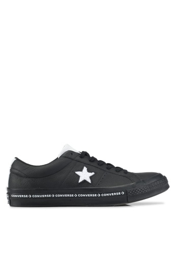 Converse black and white One Star Ox Sneakers CO302SH0SW6TMY_1