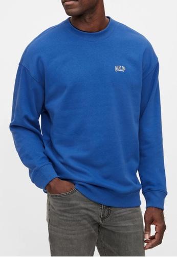 Gap blue Gap Logo Crewneck Sweatshirt E7B39AAEF55F73GS_1