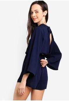 fbc481dae9bb Something Borrowed navy Kimono Sleeves Playsuit CE258AAF6957E1GS 1