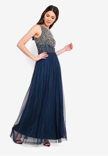 12a71dfb47c Shop Lace   Beads Chada Embellished Maxi Dress Online on ZALORA Philippines
