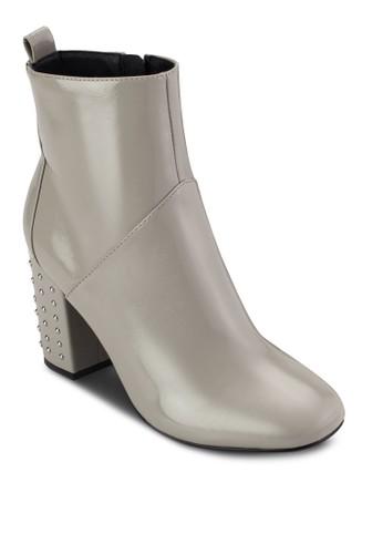 鉚釘飾高跟靴,esprit holdings 女鞋, 鞋