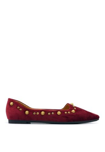 Carlo Rino red Carlo Rino 33320-C009-14 Pointed Toe Flats 1D9DCSH3C9F275GS_1
