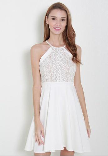 Leline Style white Glenny Lace Dress LE802AA14UEZSG_1