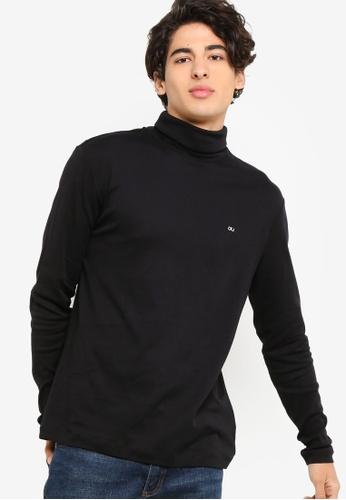 Calvin Klein black CK Logo Turtle Neck Long Sleeve - Calvin Klein Jeans  E1F36AA674407CGS 1 cdd7f2ac86862