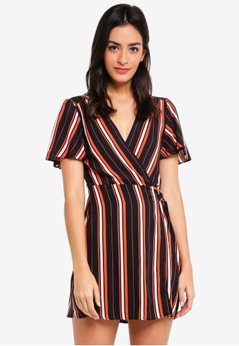 Miss Selfridge black Petite Black Striped D-Ring Dress 7850EAACCDED23GS_1