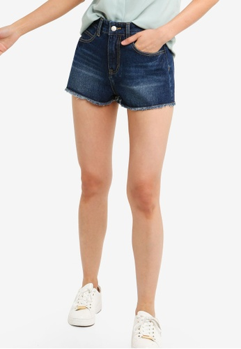 ZALORA BASICS blue Basic Classic Denim Shorts 1EE8EAA11E6132GS_1