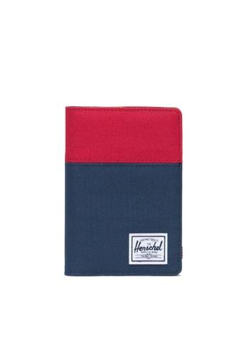 Herschel multi Herschel Raynor Passport Holder Wallet Red/Navy/Woodland Camo CEE5DACDCB5F41GS_1