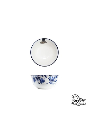 Table Matters multi Rosemary Blue  - Hand Painted 4.5 inch Rice Bowl 6BA1DHLDE43D09GS_1
