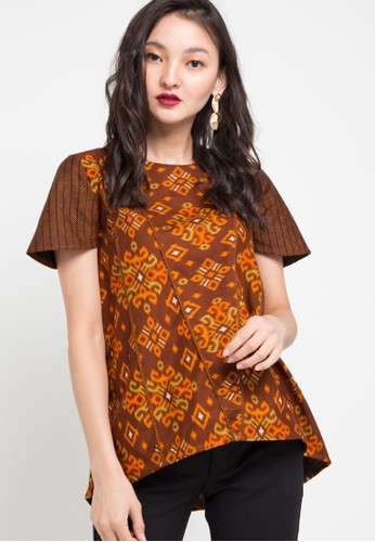 ASANA brown Tanara Woman Top E0DA2AA1D1164BGS_1