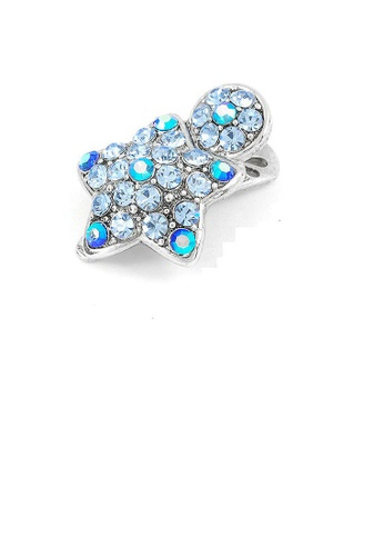 Glamorousky blue Dazzling Star Hair Clip with Blue CZ and Austrian Element Crystals (1pc) A376DACDD43499GS_1