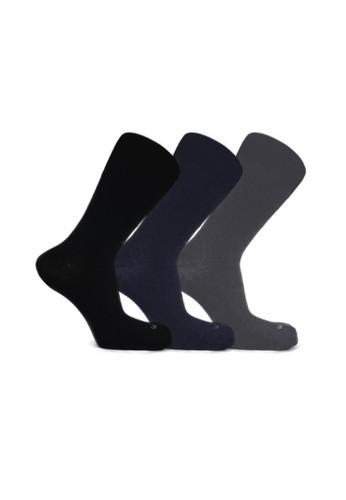 Mundo black and grey and navy Mundo Casual Men Sock 3 Pairs Pack CAA0EAA73EC912GS_1