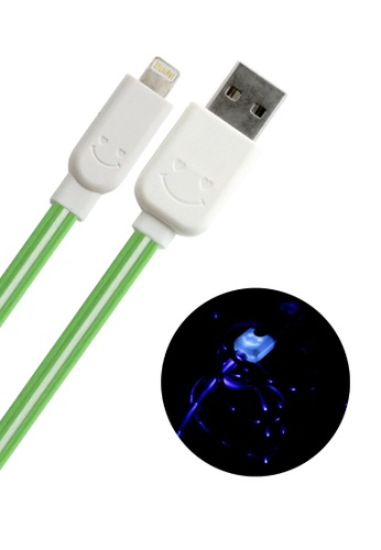 BAVIN green Lightning USB Cable for IOS iPhone / iPad / iPod 18195ACC323CF9GS_1