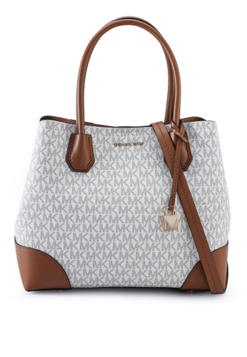 MICHAEL KORS white Mercer Gallery M Tote (zt) 69AF1AC4A5137EGS_1