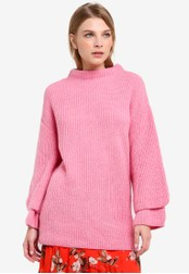 Miss Selfridge pink Pink Double Sleeve Tunic Jumper MI665AA0RQIXMY_1
