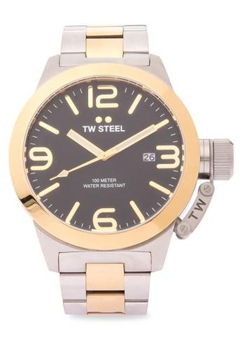 TW Steel silver CB42 Canteen Bracelet Analog Watch TW310AC0KMASPH_1