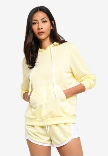 ZALORA BASICS yellow Basic Long Sleeves Hoodie Sweatshirt 7BAAFAA4B9FEDAGS_1