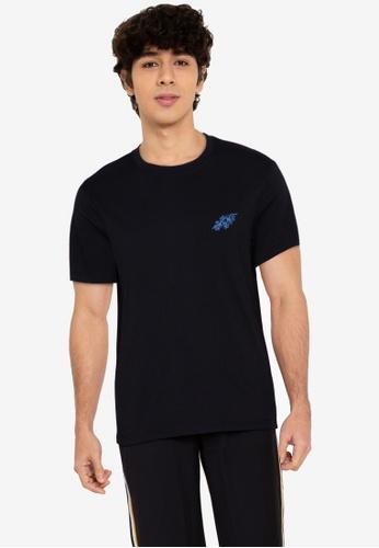 ZALORA BASICS black Tropical T-Shirt 4086BAA0EA2A19GS_1