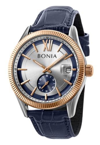 BONIA navy Bonia B10365-1313 - Jam Tangan Pria - Blue Rosegold 7000BACDFDFF1BGS_1
