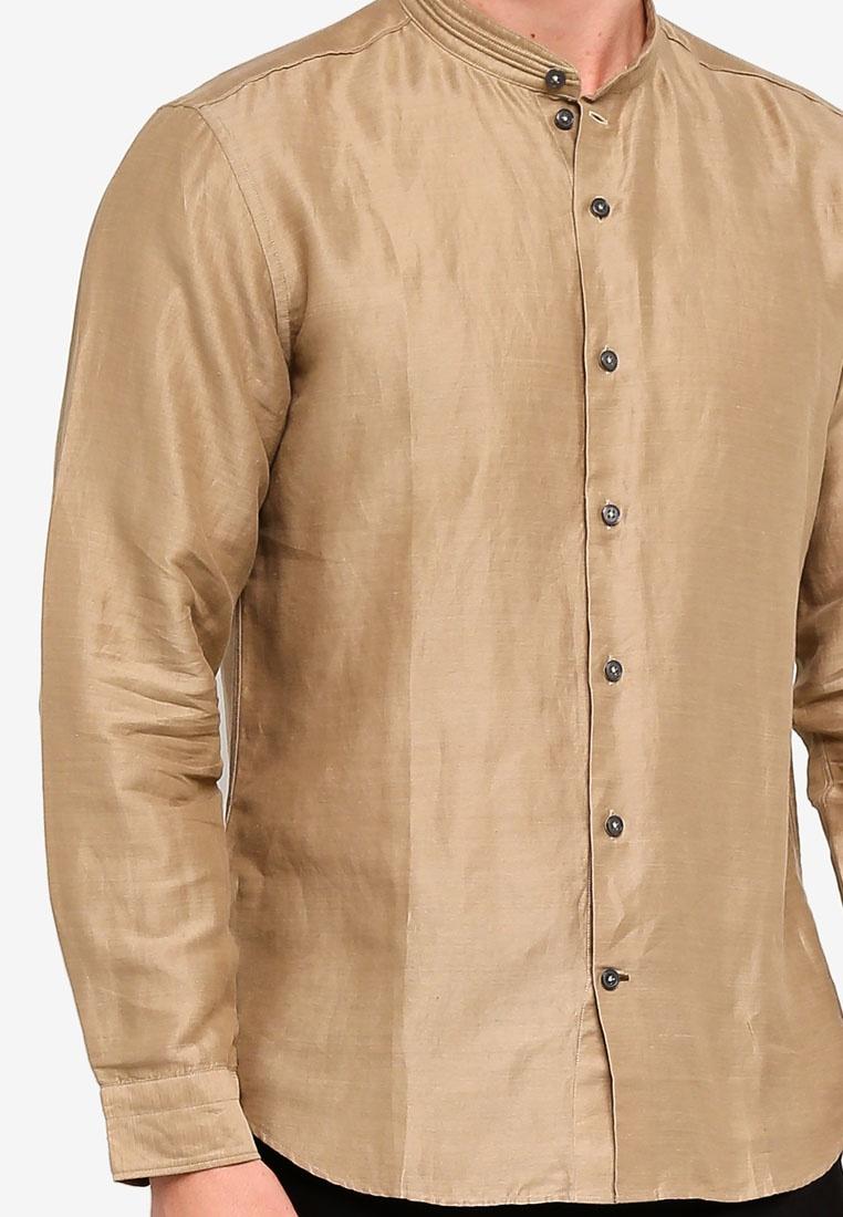 Casual BROWN Shirt LS Brown D'urban dXwxSq7XZ