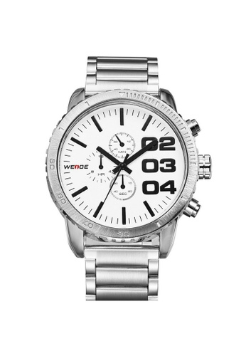 Weide white Weide WH3310 Men's Military Stainless Steel Watch (White) WE079AC78RKJMY_1