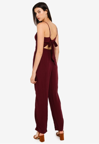 Abercrombie & Fitch red Bow Back Jumpsuit 63E13AAADE6076GS_1